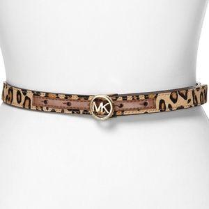 MK Calf Hair Belt